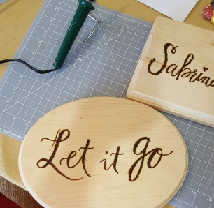 Wood Burning Lettering